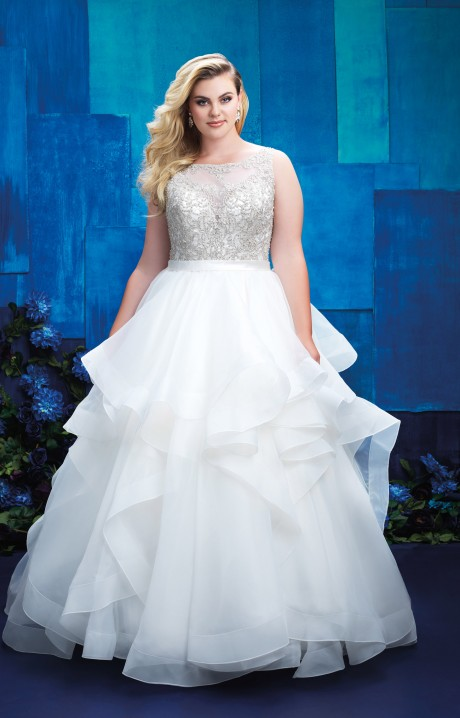 Allure bridals w393 wedding dress part of the allure for Wedding dresses anderson sc