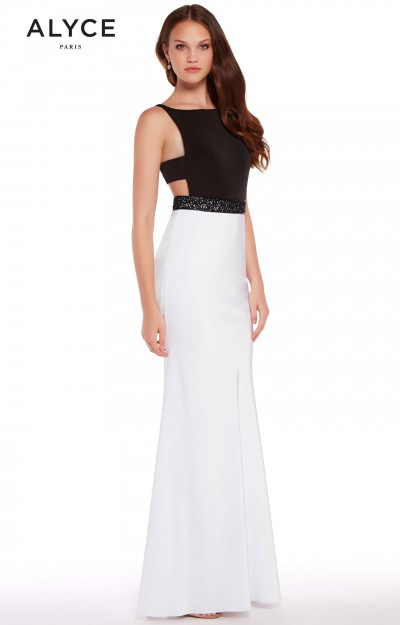 Black White Prom Dresses Formal Prom Wedding Black White Prom