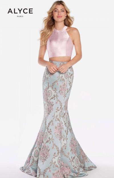1f57bebe49f Alyce Paris 60120. 2 Piece Jacquard Mermaid