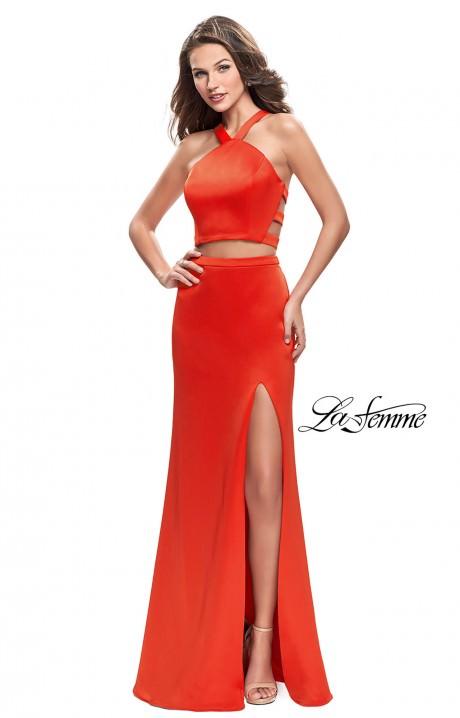 Bright Orange Mermaid Prom Dresses Orange Prom Dresses - ...