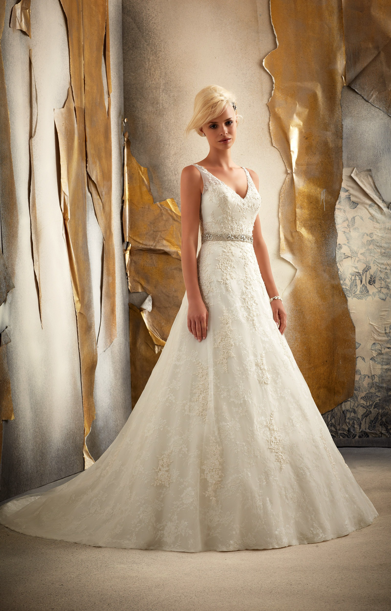 Mori lee bridal 1915 wedding dress